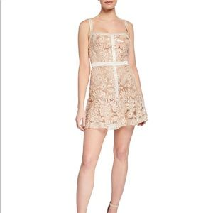 Ryse sequenced embroidered mini dress